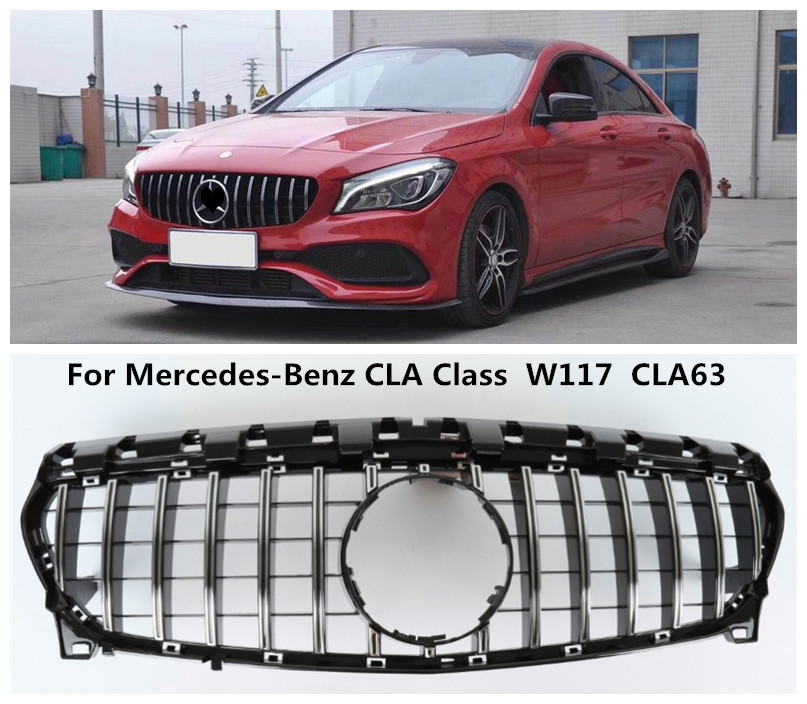 For Mercedes Benz CLA Class W117 CLA63 2013 2014 2015 2016 2017 2018 Grille Racing Grills High Quality ABS Auto Accessories