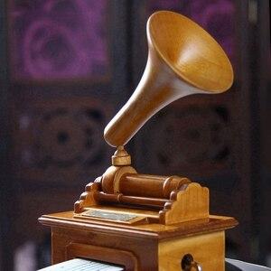 Image 5 - Горячие DIY бумажная лента музыкальные коробки деревянный ручной фонограф музыкальная шкатулка деревянные ремесла Ретро подарок на день рождения винтажный дом