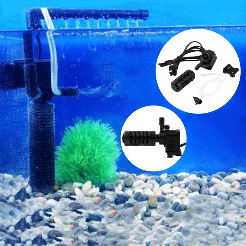 Aquarium fish tank internal filter submersible pump - 3 In 1 Portable 200l H 2w Aquarium Pond Internal Filter Multi Functional Water