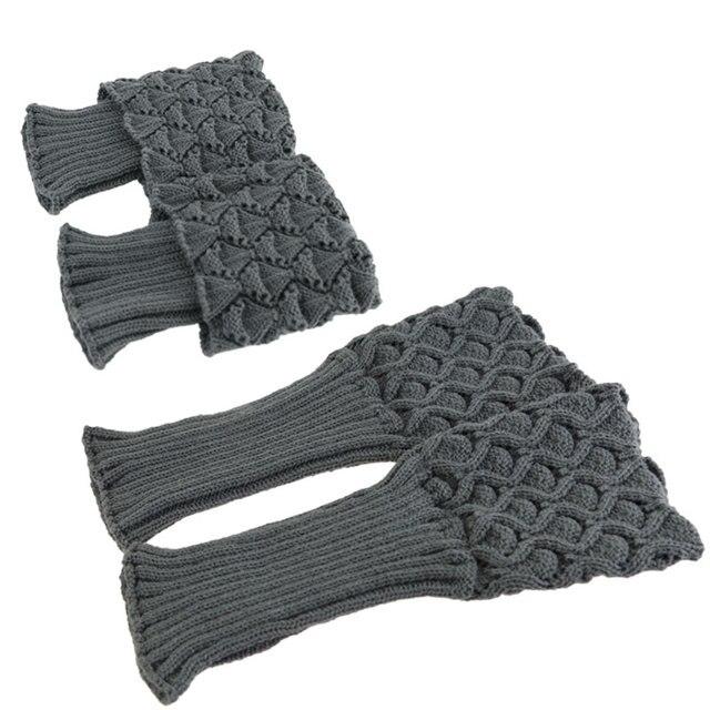 De invierno corto caliente Calcetines mujeres de ganchillo de punto ...