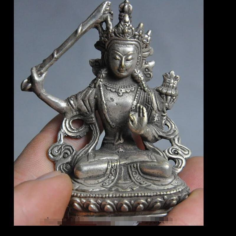 zhmeru0035@++tibet buddhism silver sword tara Kwan-Yin guanyin wenshu goddess buddha statuezhmeru0035@++tibet buddhism silver sword tara Kwan-Yin guanyin wenshu goddess buddha statue