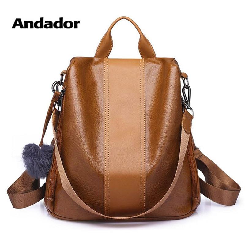 b234fc729f5d Новая модная женская сумка Противоугонный женский рюкзак 2019 высокое  качество винтажные рюкзаки женские большие вместительные женские
