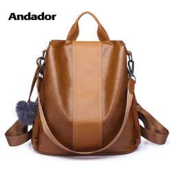 Новый Модный повседневный pu женский Противоугонный рюкзак 2019 высокое качество винтажные рюкзаки женский большой емкости школьная сумка