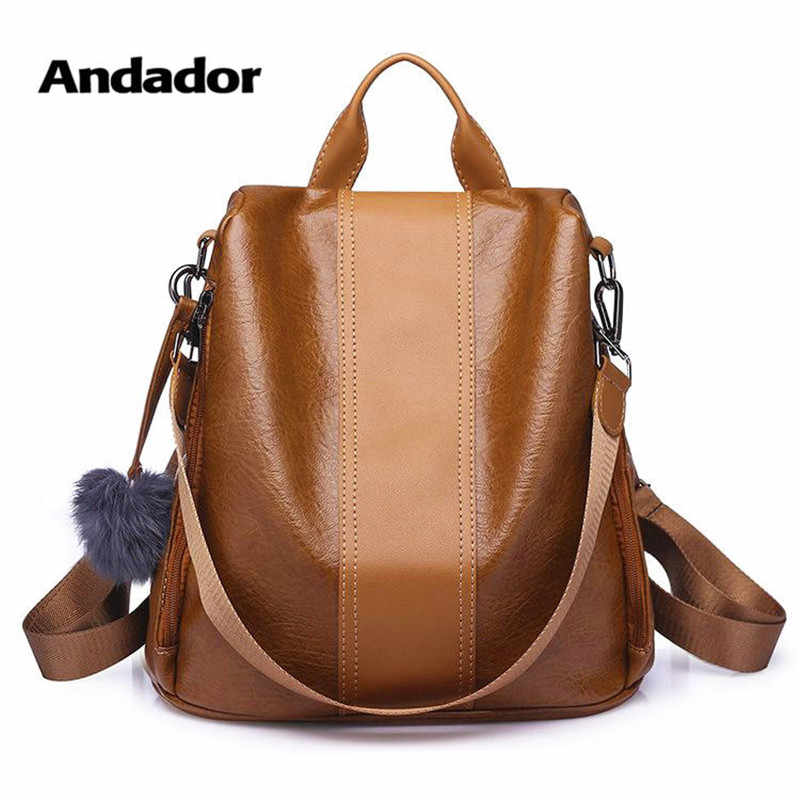 914b14aff New fashion casual pu women anti-theft backpack 2019 hight quality vintage backpacks  female larger