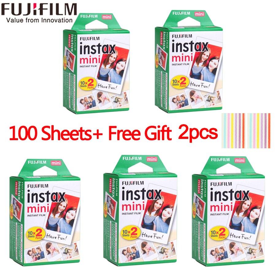 10/20/40/50/60/80/100/200 fogli Fuji Fujifilm instax mini 9 8 Bordo bianco film per instax Macchina Fotografica Istantanea mini 8 9 7 s carta