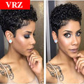 Curly Human Hair Wigs Brazilian Hair wigs Cheap Curly Pixie Short Virgin Human Hair Wigs Glueless Full Lace Wig For Black Women