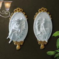 European Retro Resin Angel Ornaments Creative Wall Hangings Resin 3D wall stickers For wall bars clubs home wall decoration