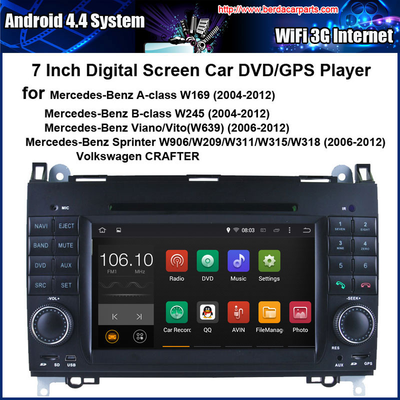 Android Car DVD Player for Mercedes-Benz Viano Vito Sprinter with Radio GPS Navigation