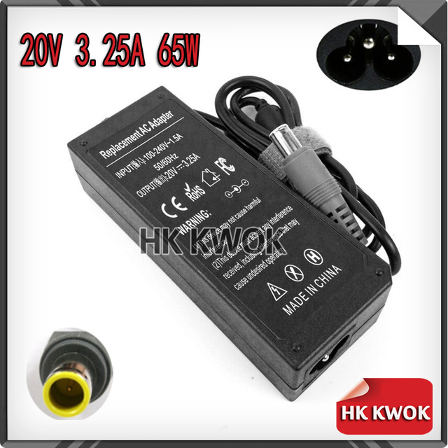 Wholesale 20V 3.25A AC Power Laptop Adapter Charger For lenovo PA-1650-161 PA-1650-171 T60 X60s X61 X61s X200 X200s F50