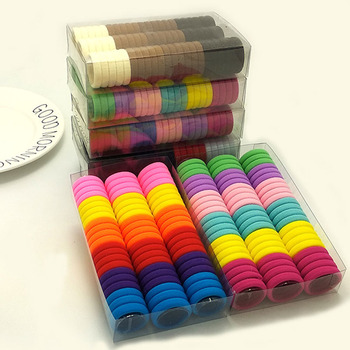 3cm 66pcs/ box cute Candy Colour elastic hair band Rubber Bands Kids hairband Hair Accessories for Girl Headband Hair Rope