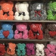 Романтическая Подарочная коробка на День святого Валентина, ПЭ, роза, медведь, искусственные розы, украшения, милый мультфильм, девушка, ребенок, подарок на день матери, подарок