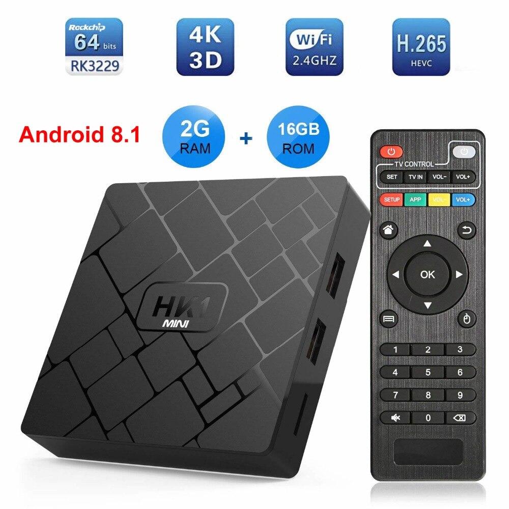 10pcs HK1 MINI Android 9.0 สมาร์ททีวีกล่อง Rockchip RK3229 Quad core 2GB Ram 16G Rom H.265 ทีวี 4K Sep กล่องด้านบน-ใน กล่องรับสัญญาณ จาก อุปกรณ์อิเล็กทรอนิกส์ บน AliExpress - 11.11_สิบเอ็ด สิบเอ็ดวันคนโสด 1