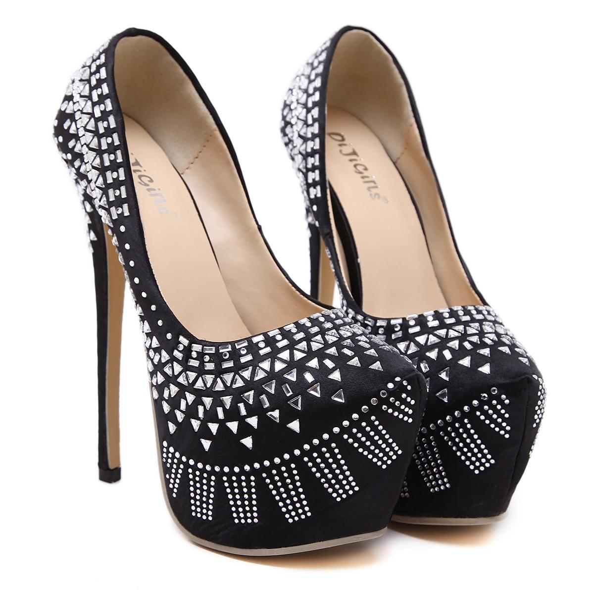 f4f5d8d5e1 ⊱Moda Donna Tacchi Alti Piattaforme Scarpe Donna Elegante Partito ...