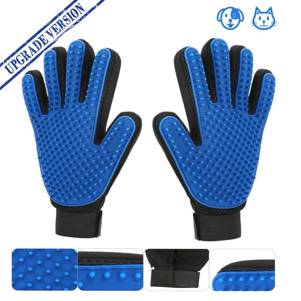 Cat Grooming Deshedding Brush Glove Touch Pet Dog Gentle Efficient Back Massage Fur Washing Bathing  Comb Pet Cleaning Brush cat and dog pet cleaning massage gloves brush
