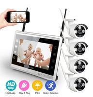 4CH NVR Wi Fi камера видеонаблюдения Камера Системы 4 шт 960 P HD на открытом воздухе Беспроводной CCTV комплект видеонаблюдения Системы P2P ONVIF