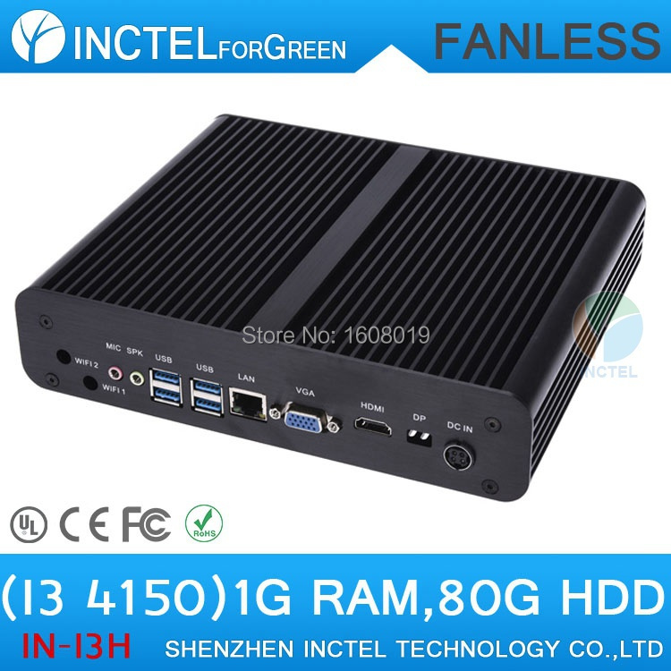 Mini Computer ITX HTPC Fanless PC i3 4150 with Core i3 4150 3 5Ghz HDMI VGA