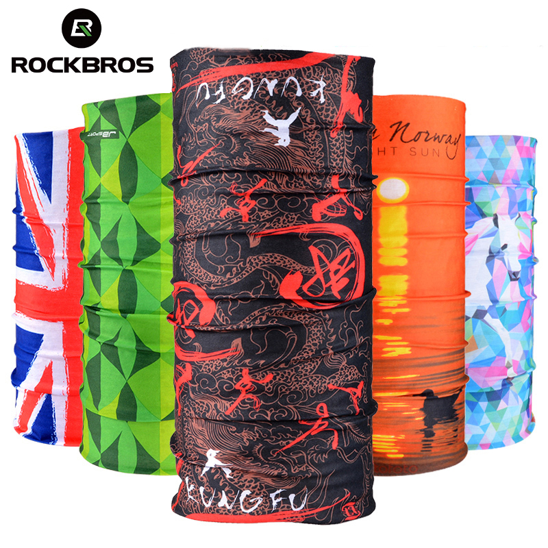 ROCKBROS Cycling Headwear Sport Scarf Scary Face Mask Seamless Bandana Bike Magic Cycling Headband Cap Hat Bicycle Equipment bmx