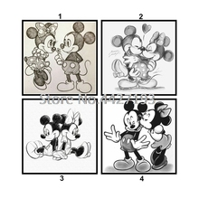 5D Full Square Diamond Embroidery cartoon Diy Painting Cross Stitch Cartoon Home Decorative Crafts