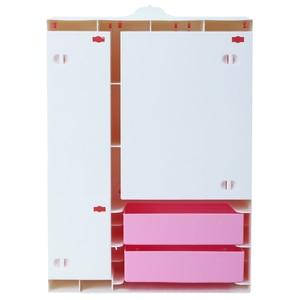 Image 5 - Armoire à poupée rose mignonne, 1 pièces + cintres mixtes de 10 pièces, Mini placard de princesse, accessoires de meubles pour jouets de poupée Barbie