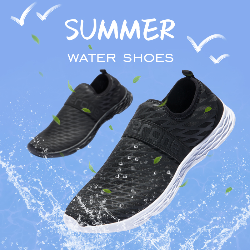 Summer Water Shoes Men Breathable Mesh Aqua Beach Shoes Quick Dry Seaside Sneaker Socks Big Size Swimming Shoes for Male
