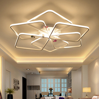Modern Led Chandelier Luxury Light For Living Room Bedroom Acrylic Lustre Chandelier White Lighting Fixture For