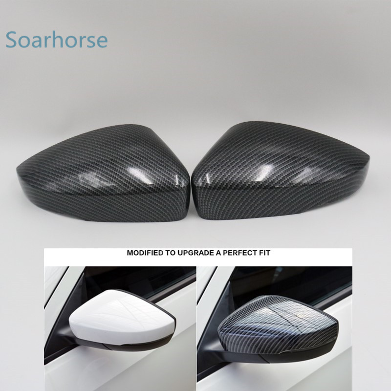 Car Side Rearview Mirror Cover Cap Shell Housing For VW Polo 6R 6C Door Wing Mirror Cover