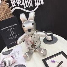 Новые Женские Симпатичные lovely Серебряный кролик формы искусственная кожа рюкзак студент Ladies отдыха рюкзак сумка Mini Fashion Сумка