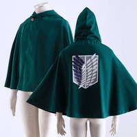 Attack On Titan Cosplay Shingeki No Kyojin Survey Corps Eren Yeager Rivaille Hoodie Cape Wings Of