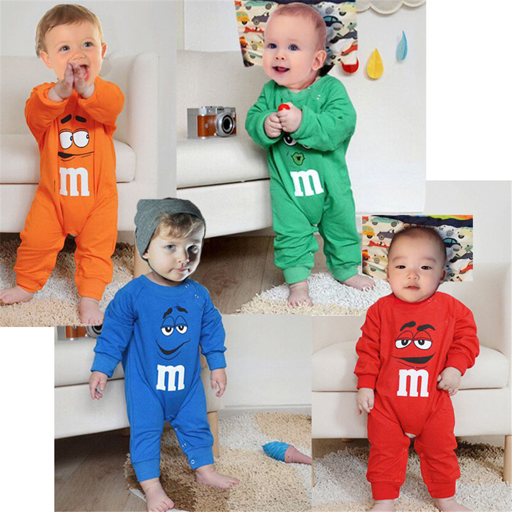 Baby   Rompers   Long-sleeved Cartoon Printed Newborn Toddler Jumpsuit Baby Boys Girls Clothes Infant Clothing
