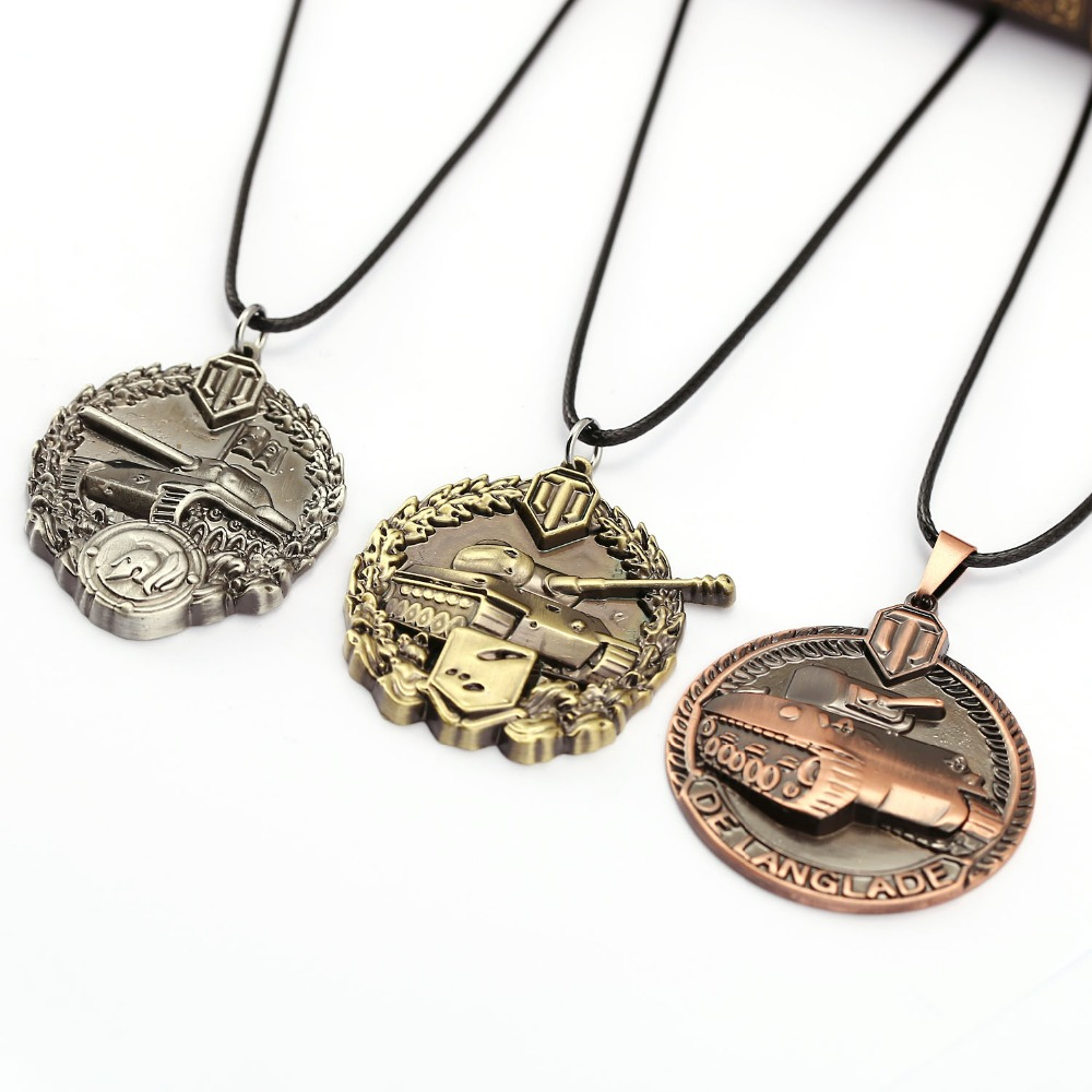 ms jewelry world of tanks necklace calm medal pendant. Black Bedroom Furniture Sets. Home Design Ideas