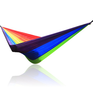 Image 3 - Портативный гамак для кемпинга, Радужный гамак, гамак для кемпинга, два один