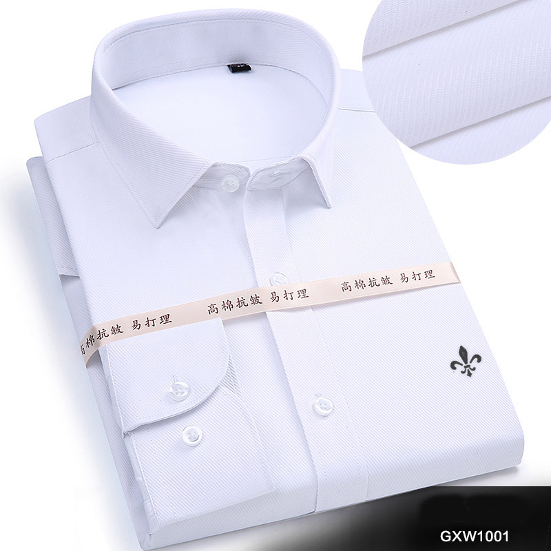 Image 2 - Dudalina 2019 Men Casual Long Sleeved Solid shirt Slim Fit Male Social Business Dress Shirt Brand Men Clothing Soft Comfortable-in Casual Shirts from Men's Clothing