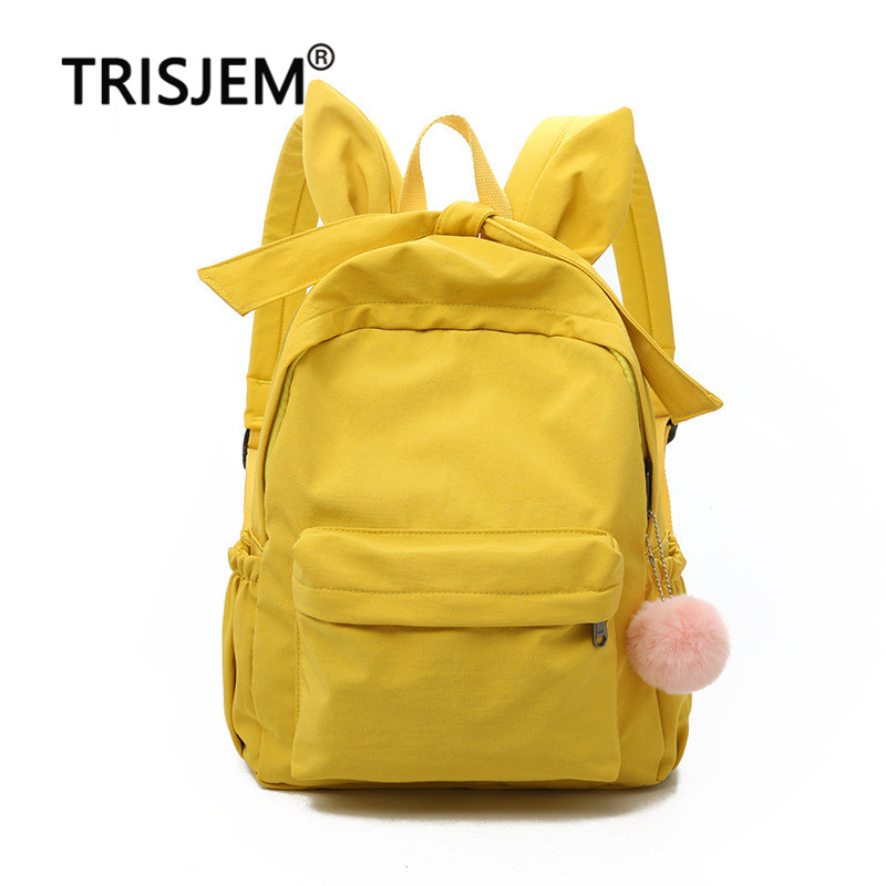 Women Fashion Nylon Backpack Preppy School Bags For Teenagers Girls LargeTravel Bags Bow Backpack Mochilas Mochilas Mujer 39WM17Women Fashion Nylon Backpack Preppy School Bags For Teenagers Girls LargeTravel Bags Bow Backpack Mochilas Mochilas Mujer 39WM17