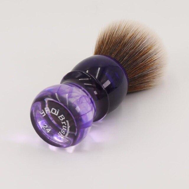 Yaqi Purple Haze Mew Brown Synthetic Handle Men's Beard Shaving Brush 1