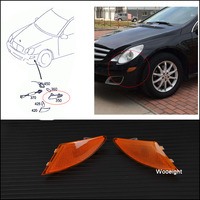 Pair Car Left + Right Bumper Turn Signal Indicator Light Lamp 2518200221 2518200121 For Mercedes Benz W251 R320 R350 R500
