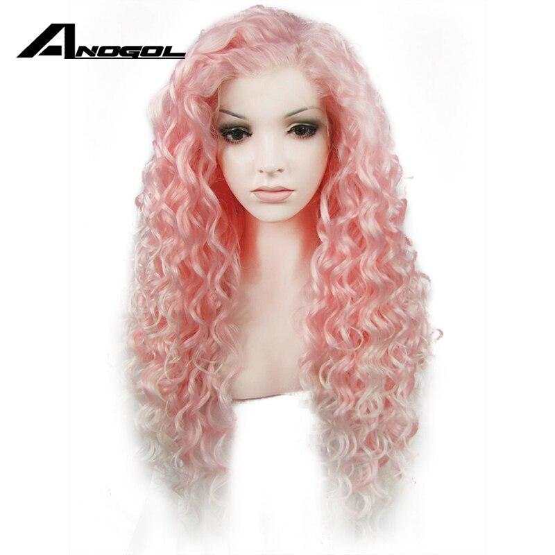 Anogol parte livre longo kinky curly loira