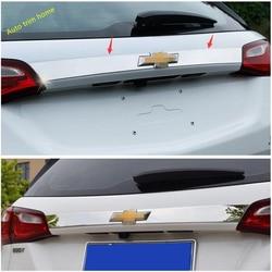 Lapetus Traseiro Tronco Tailgate Porta Cauda Superior Tira de Cobertura Guarnição Apto Para Chevrolet Equinox 2017 2018 2019 2020 Auto Acessórios