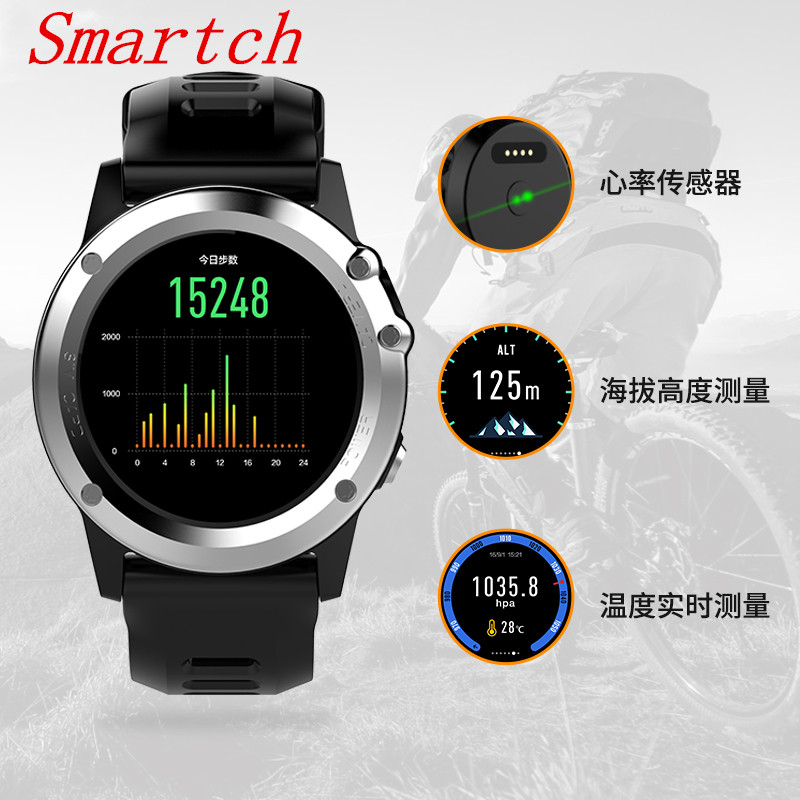 Smartch Android Smart Watch smartwatch H1 512M RAM 4G ROM Support 3G WIFI GPS SIM CAMERA SIM bluetooth MTK6572 CPU Heart Rate Wr
