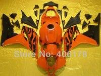Hot Sales,600rr cbr CBR600F5 07 08 Sport Bike Fairing For Honda CBR600RR F5 2007 2008 Orange Black Body Kits (Injection molding)