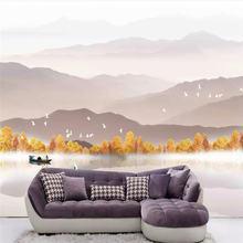 Пользовательские обои hd красивый Осенний пейзаж фоновая стена