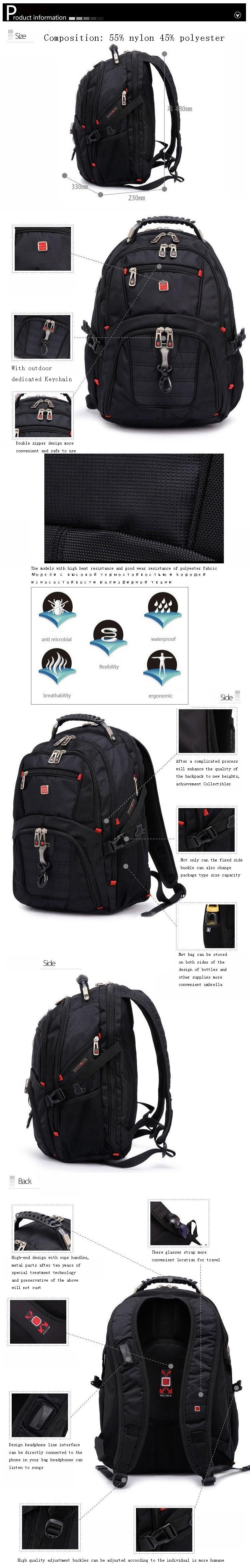 MAGIC UNION Oxford Men Laptop Backpack Mochila Masculina 15 Inch Man's Backpacks Men's Luggage & Travel bags Wholesale 5