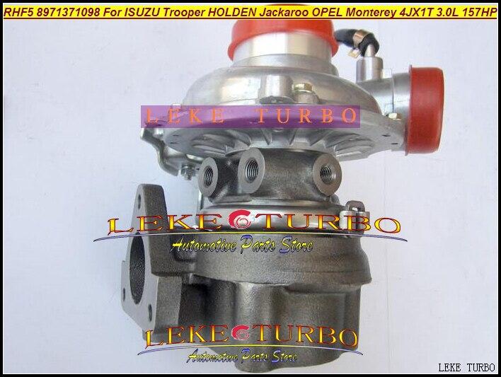 RHF5 8971371093 8971371094 8971371095 Turbo Turbocharger For ISUZU Trooper Jackaroo 99-04 For OPEL Monterey 98- 3.0L 4JX1T 3.0L free ship turbo cartridge chra for jackaroo for isuzu d max trooper monterey 4jx1t 3 0l rhf5 8973125140 8971371093 turbocharger