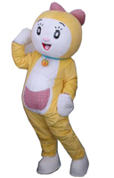 Hot sale 2015 Adult cartoon cute yellow cat mascot costume suit fancy dress mascot party costumes