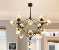Chandelier Balls Glass Ball Designer Chandeliers Lighting Pendante For Dining Room Vintage Lights Luminaire Design Iron Bulb