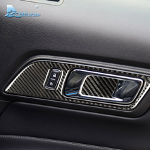 Airspeed carbon fiber Door inner Handles Door Bowl Decorative for Ford Mustang Car Stickers Car Styling