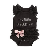 Infant Baby Girl Clothes Black Ruffle Bowknot Bodysuit Outfit Body bebe Ropa de Bebe Pink Jumpsuit Clothing Newborn-Baby-Clothes