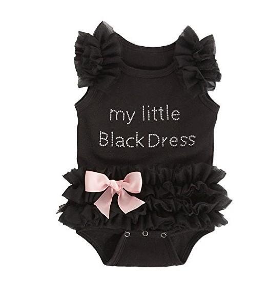 Infantil Bebê Roupas de Menina Preto Ruffle Bowknot Bodysuit Roupa Ropa bebe Corpo de Bebe Rosa Macacão Roupas Recém-Nascido Do Bebê-roupas