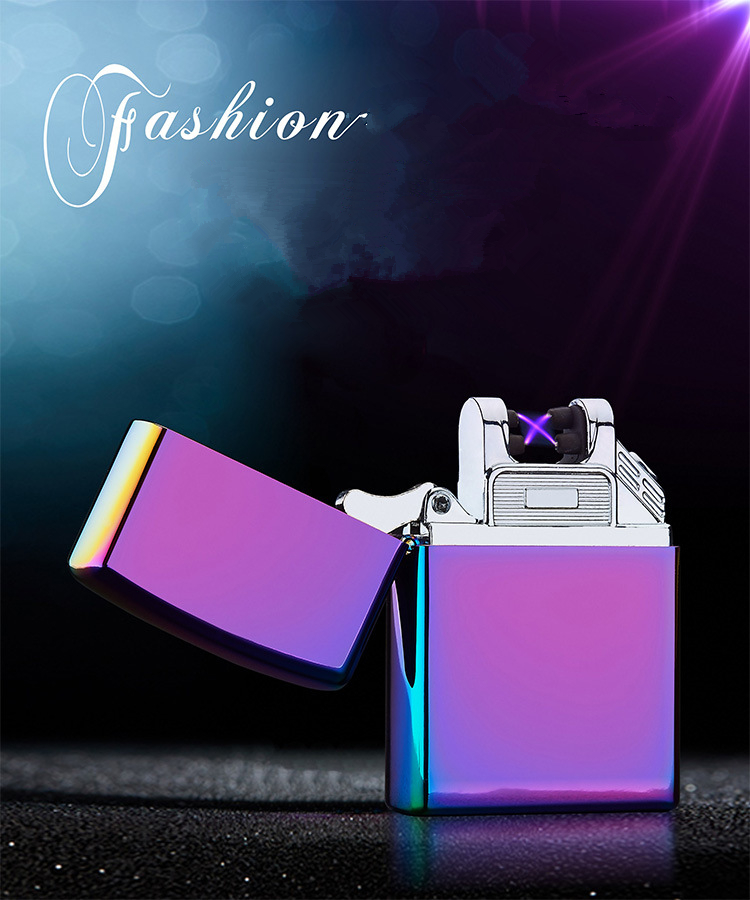 Top Quality Cross Double Pulsed Arc Electronic Lighter Usb Ls
