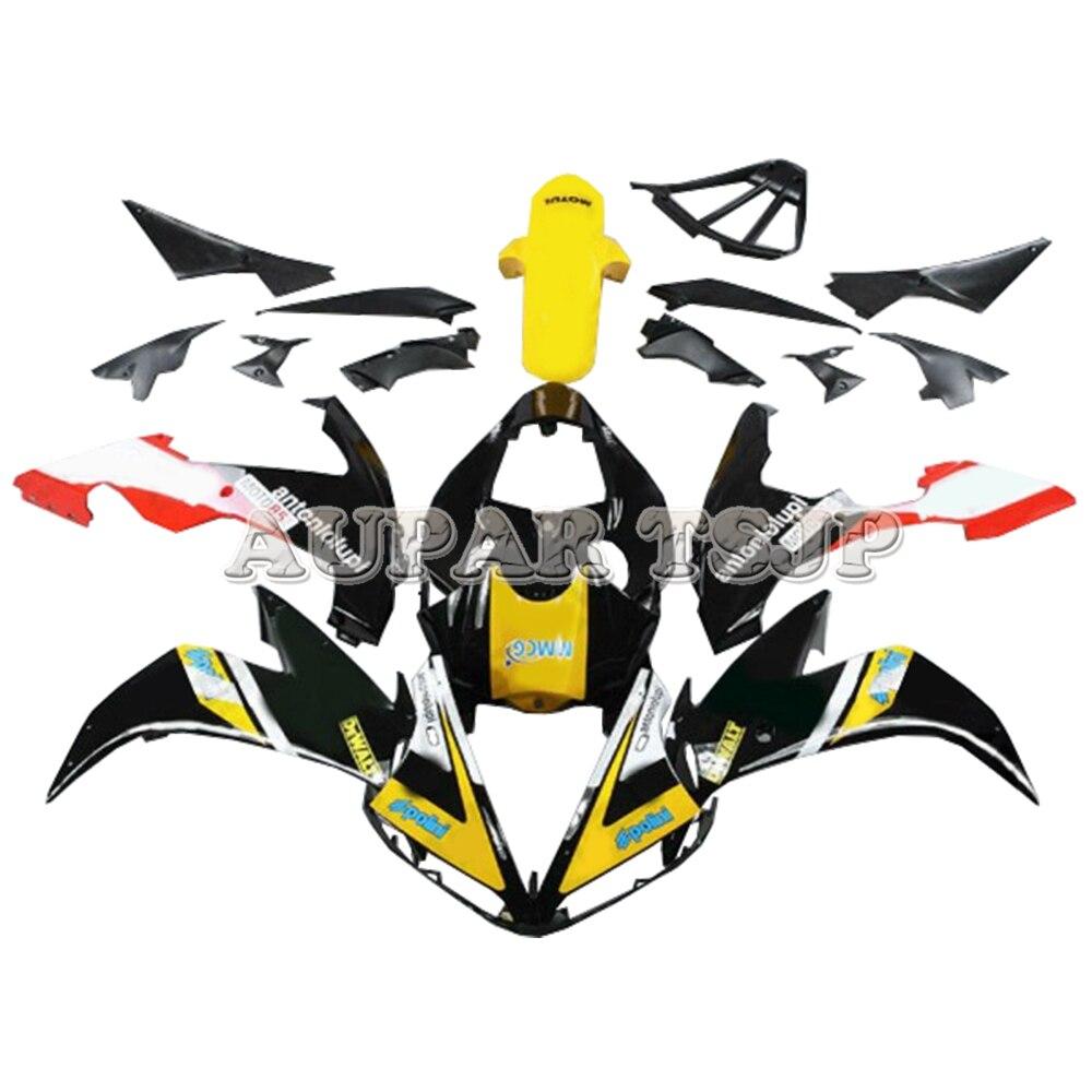 Kit de carénage en plastique jaune noir Sportbike pour Yamaha YZF1000 R1 2004 2005 2006 04-06 carénages d'injection ABS moto