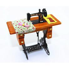 Nueva máquina de coser en miniatura pequeña de plástico Vintage Mini máquina de coser estilo mecánico decoración de mesa de regalo de cumpleaños 8X4.4X8CM & s